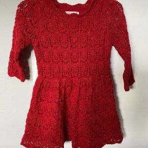 Cat and Jack Red Dress 2T